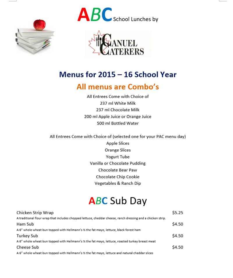 School Lunch Programs in BC - ABC School Lunches by Canuel Caterers