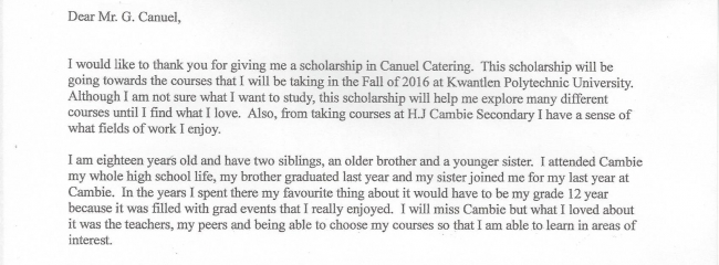 Cambie Scholarship