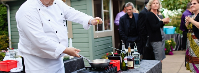 Skillet Flambe Station - Party Catering Service